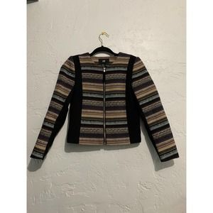 H&M Quilted Zip Up Sweater Jacket Size 2